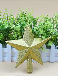 decoración en forma de árbol de navidad de plástico estrella, 18 * 18 * 5cm