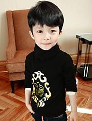 Корейский стиль гео флис водолазки блузки мальчика