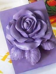 Цветок розы в форме помады торт шоколадный силиконовые формы торт украшение инструменты, l9.3cm * w9cm * h3.8cm
