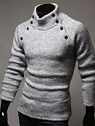 fantastic  Men's Casual High-Neck Long Sleeve Sweaters