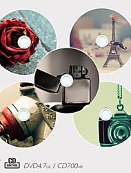personalizado CD-R / DVD-R grabable patrón creativo diferentes diseños del regalo de la magia (juego de 5)