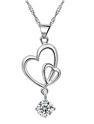 925 Silber Mode Kristall Halskette Aimei Frauen