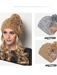 moda grossa earmuffs quentes cap tricô de lã