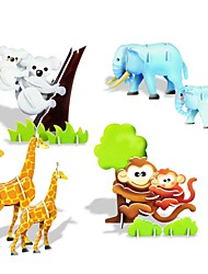 3D DIY Creative Mother and Baby Animals Build Collect Educational Kit Puzzle Toy Jigsaw Game for Kids Children
