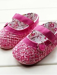 Baby Shoes First Walker Flat Heel Cotton Flats with Magic Tape Shoes