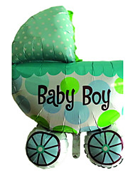 Blue Baby Carriage Metallic Balloon