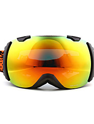 BASTO Dark Gray Frame Anti-UV Mirror Lens Skiing Snow Goggles