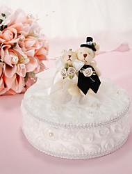 ours mariée&oreiller anneau de marié avec la perle de faux