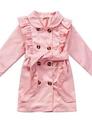 venda quente detalhe pregas trench casacos da menina