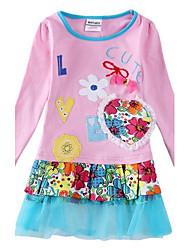 niños vestido de la muchacha del vestido vestido de flores niña babi princesa vestido de flores bordado tutú niños niña vestidos de niña