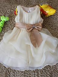 Performance Dancewears Kid's Fashion Bow Sleeveless Dress