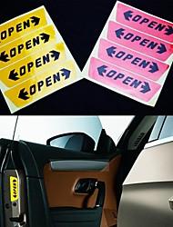 LEBOSH®Stickers OPEN Stickers Safety Warning 4PCS