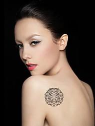 Tatuajes Adhesivos - Modelo - Series de Flor - Mujer/Girl/Adulto/Juventud - Multicolor - Metal - #(1) - #(26CM*10.8CM)