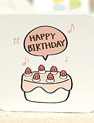 A Small Cake Birthday Card Mini (7.5*7.5cm)