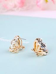 Stud Earrings Women's Stainless Steel Earring Rhinestone