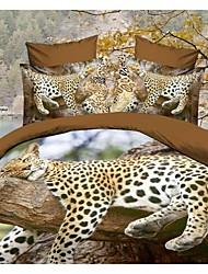 baolisi® 3d moda estampado floral cómoda ropa de cama de cuatro piezas