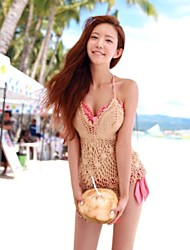 Women's Sexy Cut Out Mesh Halter Cover-ups