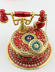 Telephone Shape Home Decor Trinket Box