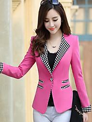 deewo moda splicing ocasional equipado blazer das mulheres
