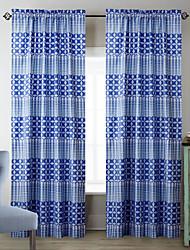 (Due pannelli) minimalista stelle color zaffiro tenda modello
