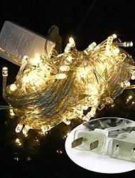 EUA Ligue 10m impermeável 100led luz branca quente levou natal luz decoração luz string (110v)