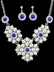 Costume Jewelry Rhinestone Necklace Earrings Wholesale Jewelry Set