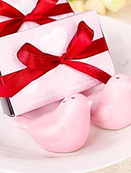 Pink Birds Salt&Pepper Shakers Wedding Favor