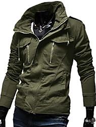 lavado tapa empate estilo coreano chaqueta corta delgada de los hombres