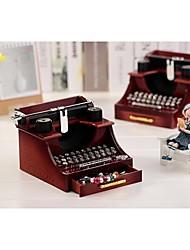 caixa de música antiga máquina de escrever