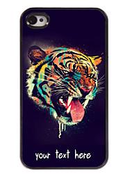 gepersonaliseerd geval het hoofd van de tijger ontwerp metalen behuizing voor de iPhone 4 / 4s