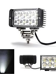 dy-wf24s 24w 6000k 1800lm 8-CREE LED Weißlichtpunktstrahl Geländelampe (10-30 V DC, schwarz)