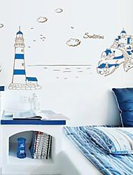 pared Tatuajes de pared pegatinas, moda azul pvc mediterráneo pegatinas de pared