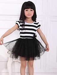 Girl's Cotton Dress , Summer Short Sleeve