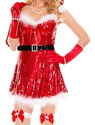 Women's Sexy Sparkly Miss Santa Costume