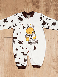 Boy's Cow Design Baby Romper Open Trouser