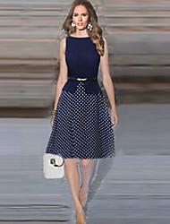 messic женщин полька платье точки печати