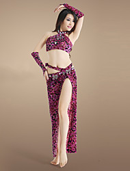 Belly Dance Women's Charming Practice Spandex Outfits Including Tops&Aprons&Panties&Arm Covers (More Color)
