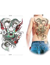 1 Tatouages Autocollants Séries animales Grande Taille Bas du Dos ImperméableHomme Femme Adulte Adolescent Tatouage TemporaireTatouages
