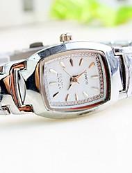 Women's Barrel Shaped  Dial Steel Strip Band Quartz Fashion Watch Cool Watches Unique Watches