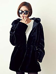Peach John Women's Long Sleeve Slim Fashion Hoodie Causual Thicken Overcoat