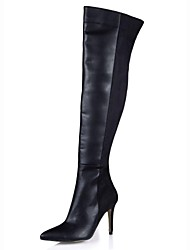 Women's Shoes Pointed Toe Stiletto Heel  Over Knee High Boots  with Zipper and Split Joint
