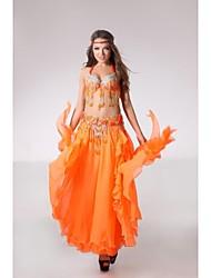 grânulos de desempenho barriga palco de dança roupas-definidas clássicos de 3 incluindo top, cinto e saia (mais cores)