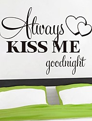 Wall Stickers Wall Decals, Kiss Me English Words & Quotes PVC Wall Stickers