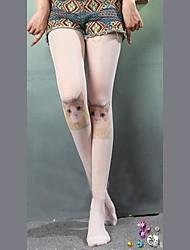 Candy Girl Vivid Cat Pattern White Sweet Lolita Stockings