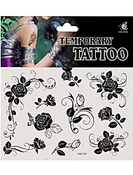 Fashional Temporary Tattoo Body Art Waterproof Flower Pattern Stickers Safe Removable Multi Style
