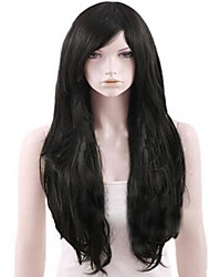 Capless Black Extra Long High Quality Natural Curly Synthetic Wig
