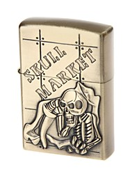 6115 crâne carburant en alliage léger motif de zinc (laiton antique)