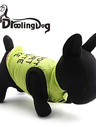 Gatos / Cães Camiseta Verde Roupas para Cães Inverno Carta e Número