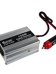 BEAUTY-CAR 150W DC 12V to AC 220V Car Power Inverter(Silver)
