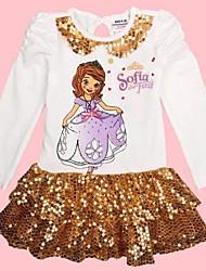 robe de soirée de la robe de princesse robe de jeune fille pour les filles de bébé de robe à manches longues pour les enfants pour les enfants robes